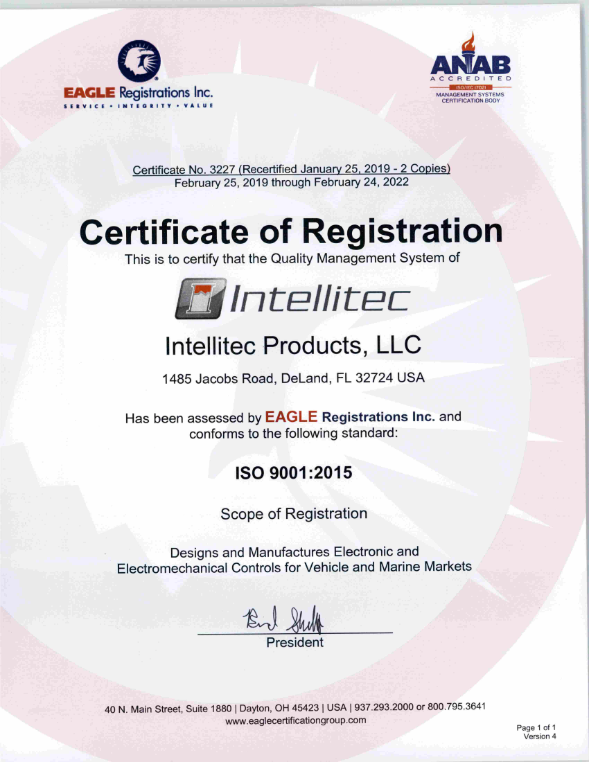 ISO 9001 2015 Certificate QMS 013019